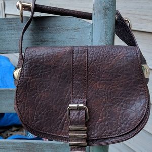 Free People Brown Leather Hand Bag Excellent 👍